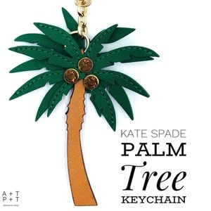 Kate Spade Palm Tree Keychain Bag Charm